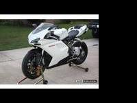 2008 White Ducati 848 Superbike with 1,908 miles. This