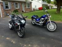 2005 Honda Shadow Bright Pearl Blue all original,