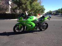 Ninja 250 with approximately 3,800 miles. Does 85-90 on