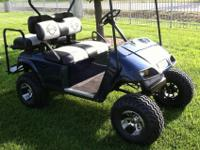1996 Ez-Go Gas Golf cart, Has new Jakes lift kit and
