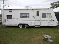 25' travel trailer, sleeps 7, 11,000 BTU AC Furnace