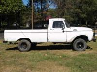 Here is a rare 1964 Ford F100 4X4. 292 V-8, 4speed.