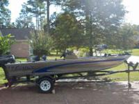 17ft Fisher Dominator bass boat. 40HP Force by Mercury