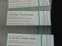 For Sale, (3) AL JARREAU, Reserved Performance Seats