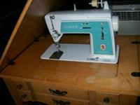 We have for sale 2 Singer sewing machines and 1