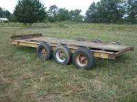 3 axle heavy duty trailer. 2 5/16 ball Tires good. 6