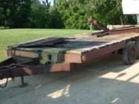 20 Ft. long x 7 1/2 Ft. wide Needs new deck. No emails
