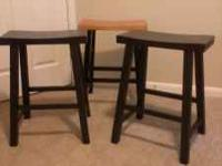 "Barstools are 24"" tall. Take 3 for $25. Email or"