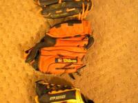 2 left-handed Baseball Mitts Rawlings and Franklin and