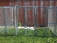 dog kennel 12 x10 3 runs or one big one like new 450