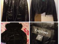 I have a black suede, very stylish Bebe coat (first