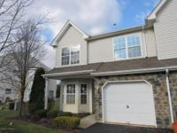 End unit townhome available in Fox Chase. This end unit