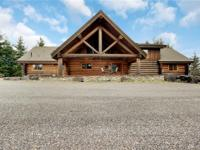 Secluded hilltop 2008 Wein Log home. 3816 sq/ft, 3