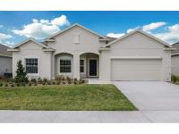 Brand new single story home with pond and golf course