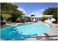 Nested in Miami Beach gated golf course community of