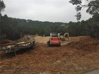 New construction with foundation being poured week of