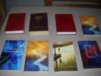 I have 3 bibles and 5 religous books for sale. One of