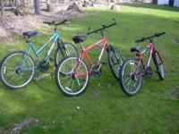 2 OF THESE ARE HUFFY 18 SPEEDS AND THE SMALLER ONE IS A
