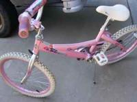 10 speed Huffy 20 inch 20.00 Girls pink 20 inch bike