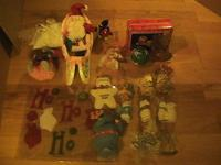 Tons of Christmas decorations never used asking $45 for