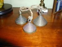 I have for sale 3 brass vintage SS India cow bells on a