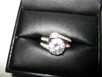 Beautiful 3 Carat Engagement Ring.  Real man made