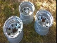 Three Chevy aluminum Wheels 15x10 call or text if your