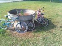 3 girls bicycles, in good shape, may need tubes, ready