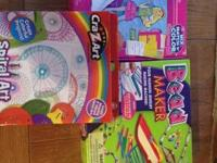 3 Craft activities for a girl- is a steal.  Spiral Art-