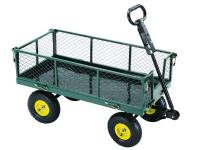 This Steel Utility Cart has removable, fold-down sides