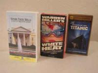 3 VHS Tapes all in Great Condition Within These Walls: