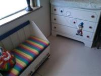 3 drawer dresser w/ changing pad - colorful with clown
