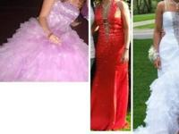 Precious Formals- (Right) Size 2 White It was worn once