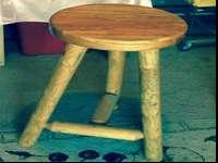 Pine log bar stools for sale, great condition, $150.00
