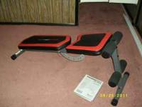 WEIDER SLANT BECH, ADJUSTABLE HEIGHTS $50 CARDIO MAX