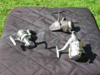 3 fishing reels for $20.00.Shakespeare Axiom,Silver