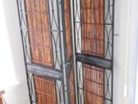 Solid Metal and Bamboo Privacy Screen, excellent