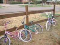 "1 bike is small, 3 are about 24"" wheels. $5.00 & $10.00"