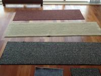 For sale are 3 runner rugs (red, cream and black