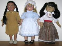 "New, Great deal of 3 (3) Historic American, 18"" Female"