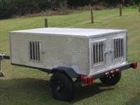 "3 hole dog trailer with storagewith 12""tires and"