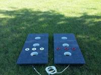 New > 3 Hole Washer Toss Board Game Set (Includes 6