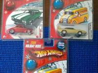 (3) Hotwheel Holiday Rods  2005 1940 Ford Coupe 2006