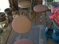3 metal Ice Cream parlor style chairs made from metal