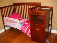 hi my name is kirk I have a 3 in 1 cherry wood baby bed