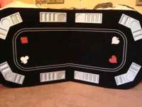 3 in one Texas Holdem Black Jack Craps felt foldup in