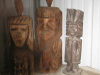 3 medium size totems-kept inside-really sharp-calls