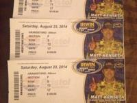 Hi I have three Irwin Tools Night Race tickets for