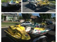 3 Jet Skies for Sale with trailer. 1- 3 person and 2- 2