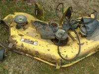 "SELLING 3 MOWER DECKS, ONE IS A 48"", & THE OTHER TWO"